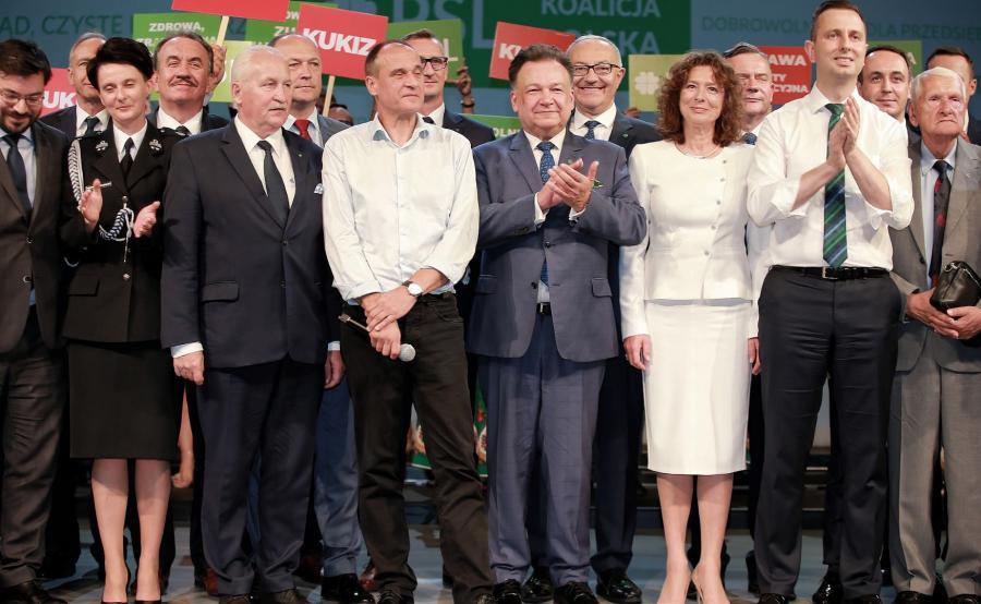 Władysław Kosiniak-Kamysz, Paweł Kukiz, Elżbieta Bińczycka, Stanisław Tyszka