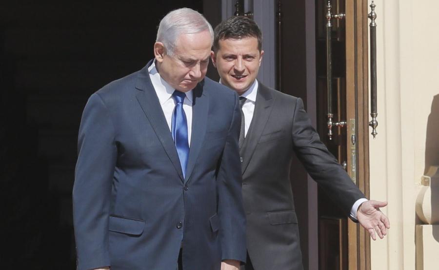 Benjamin Netanjahu i Wołodymyr Zełenski