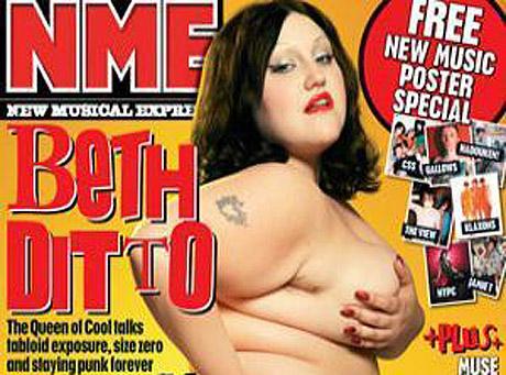 Beth Ditto z zespołu Gossip pozuje nago