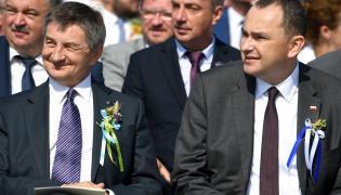 Sekretarz stanu w Kancelarii Prezydenta RP Adam Kwiatkowski i były marszałek Sejmu, poseł PiS Marek Kuchciński