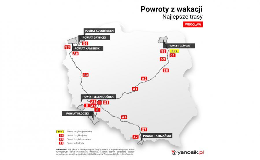 Najlepsze trasy - Wrocław