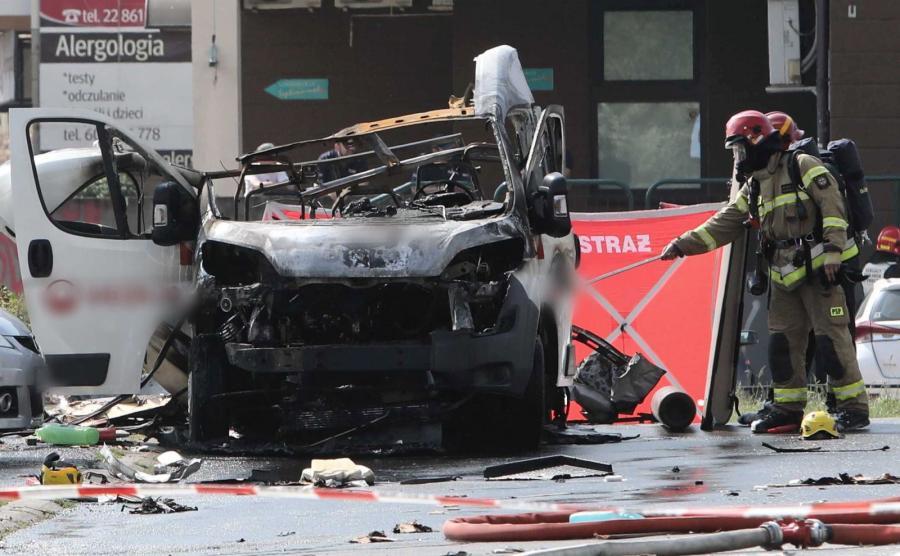 Wybuch w Warszawie
