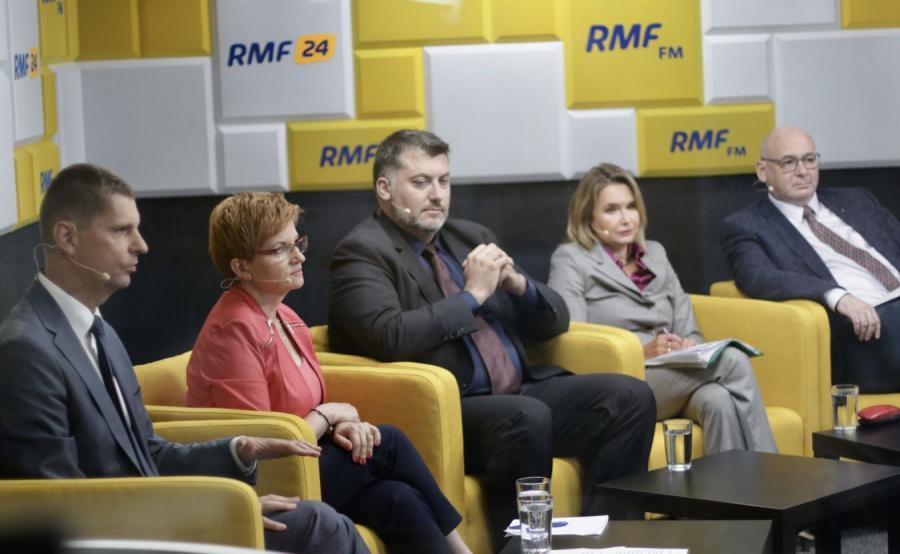 Uczestnicy debaty RMF FM, DGP i Interii