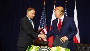 Prezydent Andrzej Duda z  Prezydentem Donaldem Trumpem