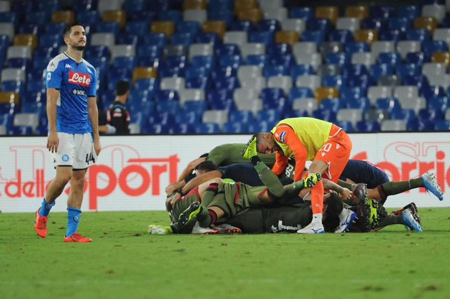 Radość piłkarzy Cagliari