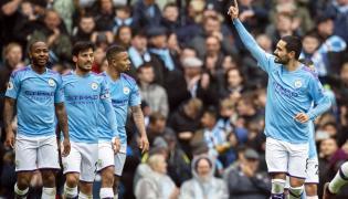 Radość po zdobyciu trzeciej bramki przez Manchester City