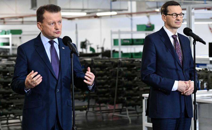 Mariusz Błaszczak i Mateusz Morawiecki