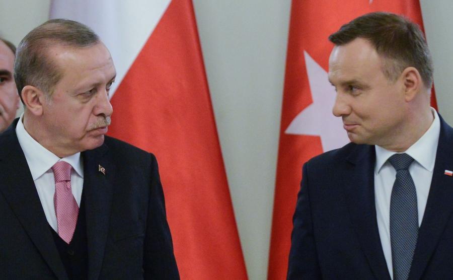 Recep Tayyip Erdogan i Andrzej Duda