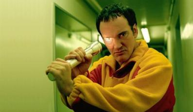 """07 Nov 2003, Paris, France --- Cult American director, Quentin Tarantino is in Paris to promote his fourth film, """"Kill Bill: Vol. 1"""" which will be released in France on November 26, 2003 with Volume II to follow in 2004. --- Image by © Nicolas Guerin/Corbis"""