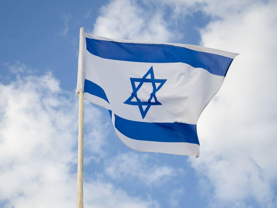 Flaga Izraela - zdjęcie ilustracyjne