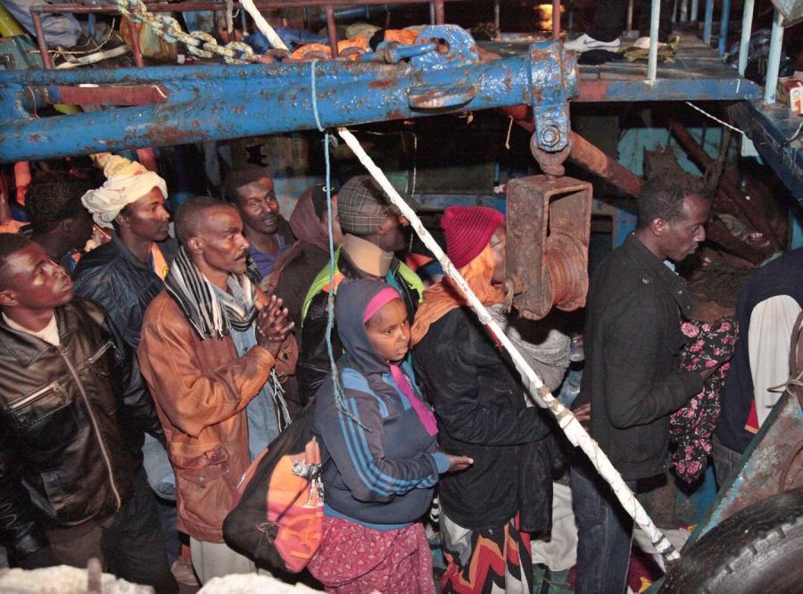 Imigranci na Lampedusie