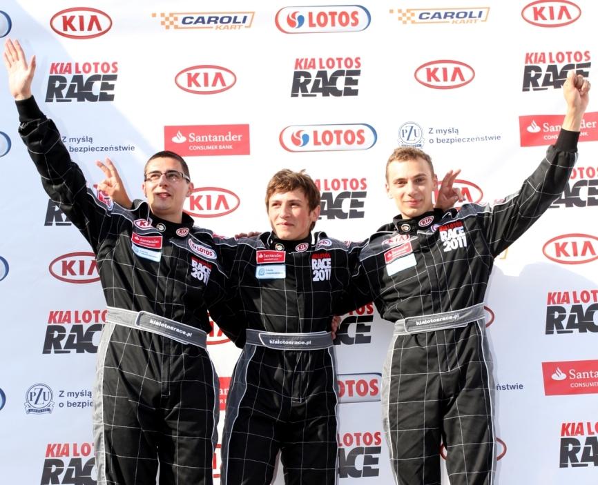Oto pierwsza trójka najszybszych w Kia Lotos Race