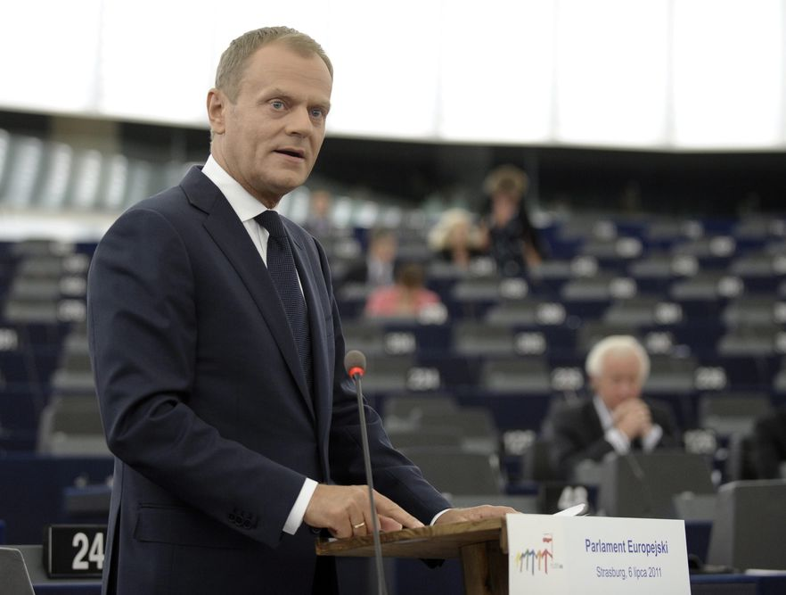 Donald Tusk w Strasburgu