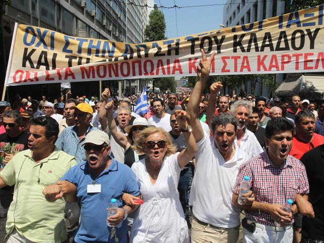 Ateny, protest taksówkarzy