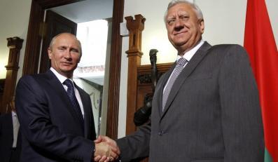 Władimir Putin z białoruskim premierem Michaiłem Miasnikowiczem