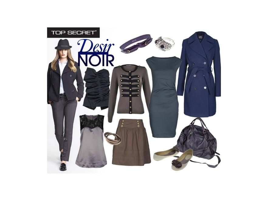 Propozycje z linii Desir Noir jesiennej kolekcji Top Secret.