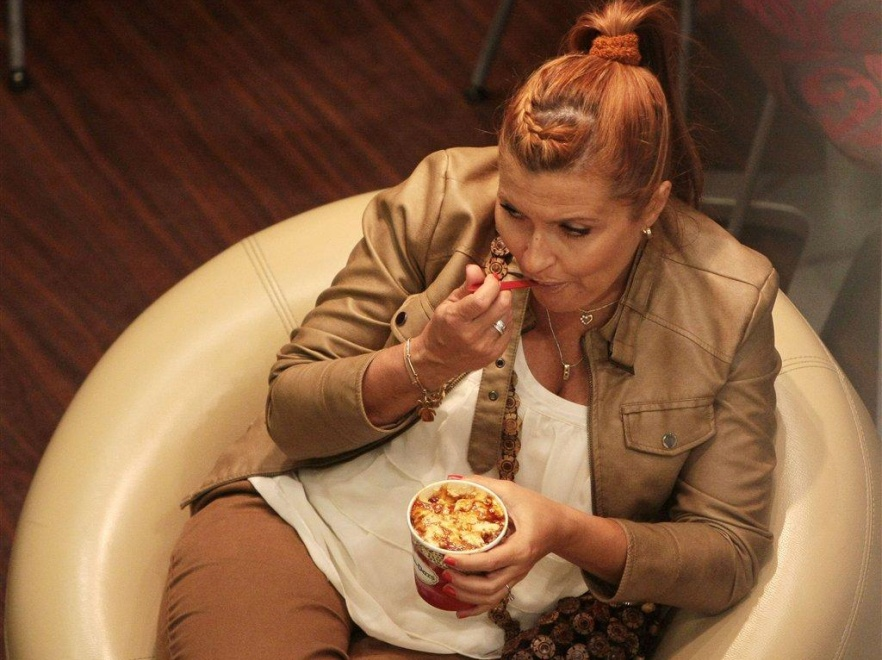 Kasia Skrzynecka jak większość kobiet w ciąży ma zachcianki.