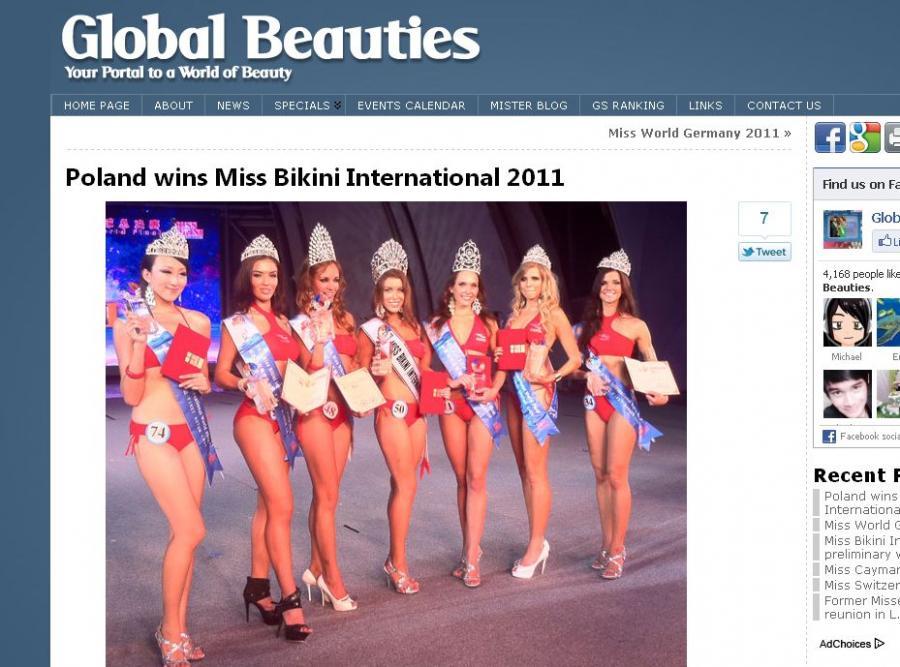 Polka wygrała konkurs Miss Bikini International 2011