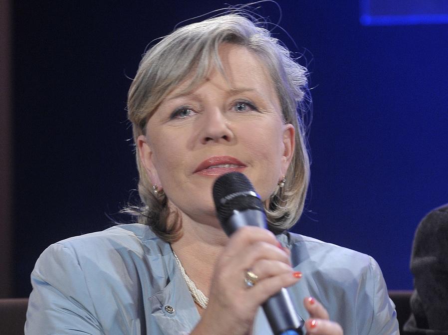 Krystyna Janda na prezentacji nowego sezonu w Teatrze Telewizji