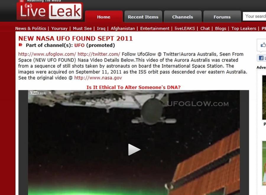 UFO nad Australią? Zadziwiający film NASA