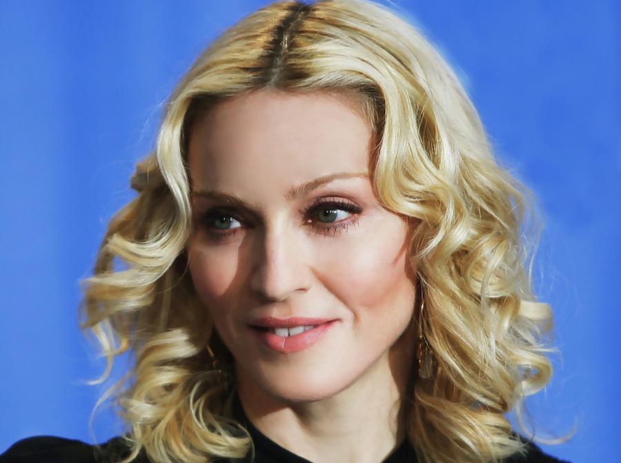"""Madonna na festiwalu w Berlinie, gdzie pokazała swój debiut reżyserski – film """"Mądrość i sex"""" w2008 roku"""