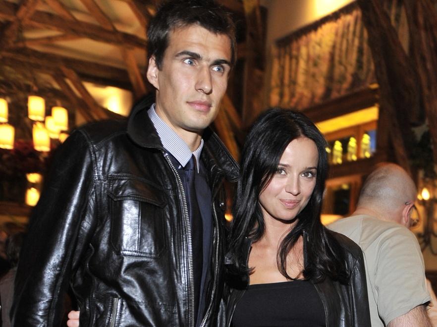 Anna Przybylska z mężem