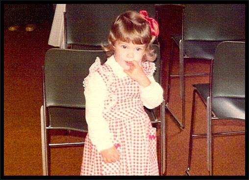 Przyszła piosenkarka w wieku kilku lat