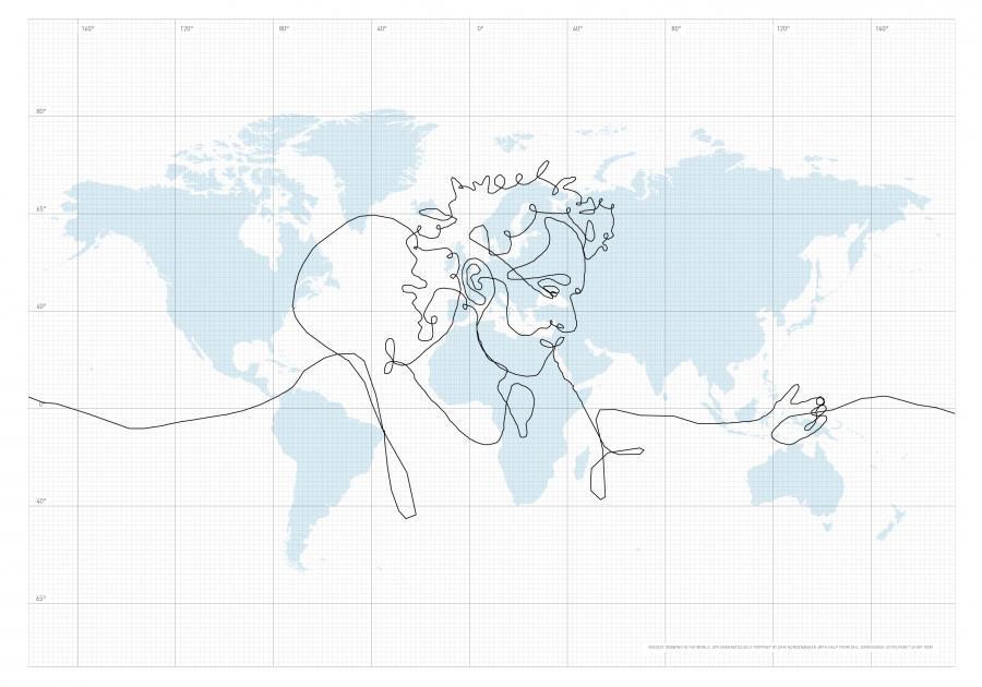 Największy rysunek na świecie zrobiony GPS-em