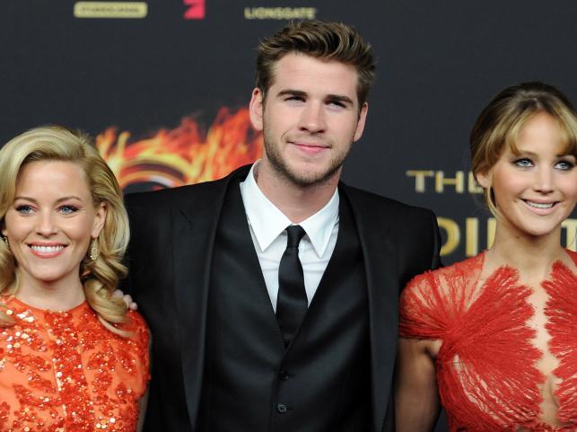 Elizabeth Banks, Liam Hemsworth i Jennifer Lawrence