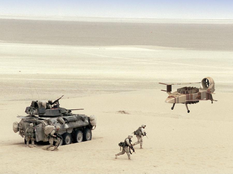 Latający hummer, robot powietrznego wsparcia i zaopatrzeniowiec