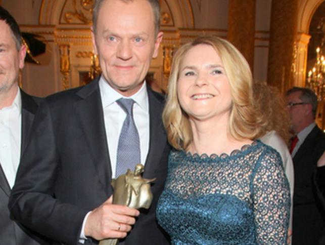 Donald i Małgorzata Tusk na gali rozdania Wiktorów