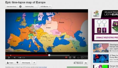 1000 lat historii Europy w 3,5 minuty. Wideo!