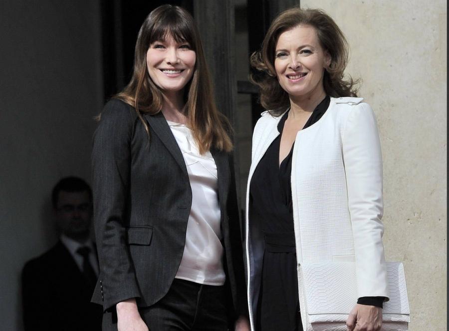 Była pierwsza dama Carla Bruni i jej następczyni w Pałacu Elizejskim, Carla Bruni, Valerie Trierweiler