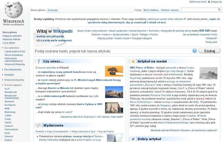 Wikipedia zablokowała milion polskich internautów