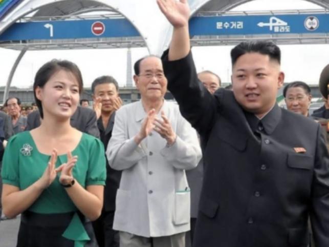 Kim Dzong Un i jego żona Ri Sol-Ju