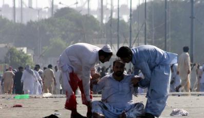 Mężczyzna ranny podczas protestów w Pakistanie