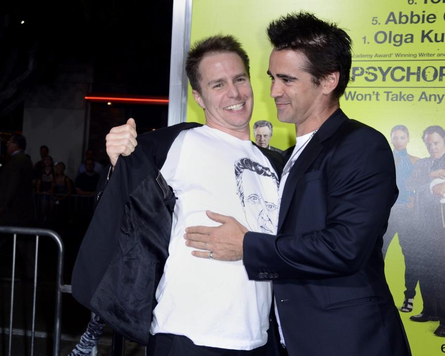"""Colin Farrell i Sam Rockwell na premierze """"Siedmiu psychopatów"""""""