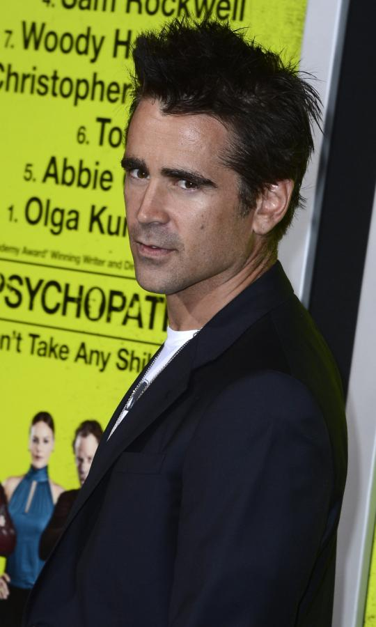 """Colin Farrell na premierze """"Siedmiu psychopatów"""""""