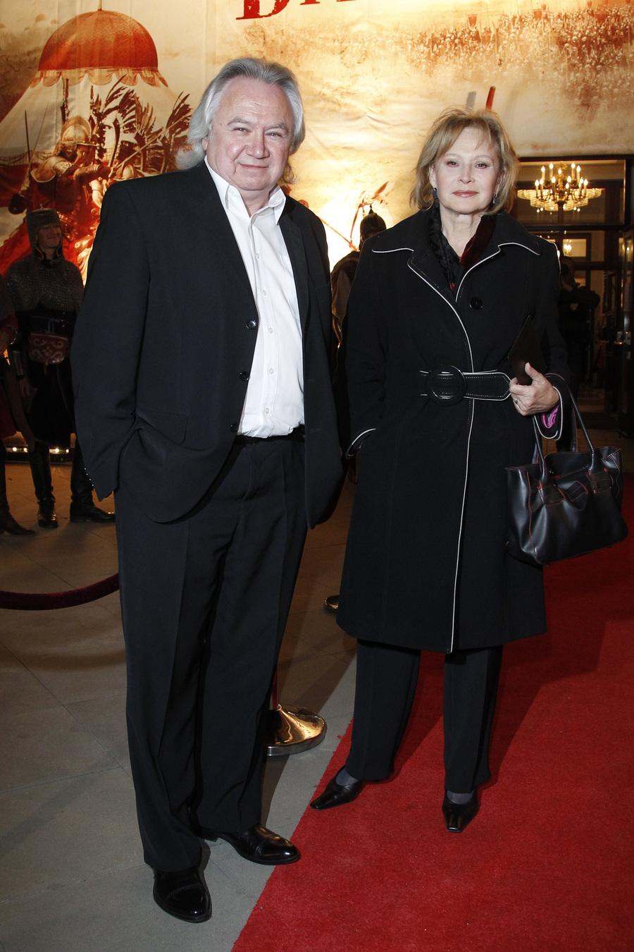"""Grażyna Barszczewska i Andrzej Serdiukow na premierze """"Bitwy pod Wiedniem"""""""