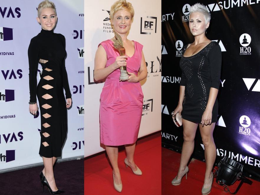 Miley Cyrus, Kinga Preis i Iga Wyrwał