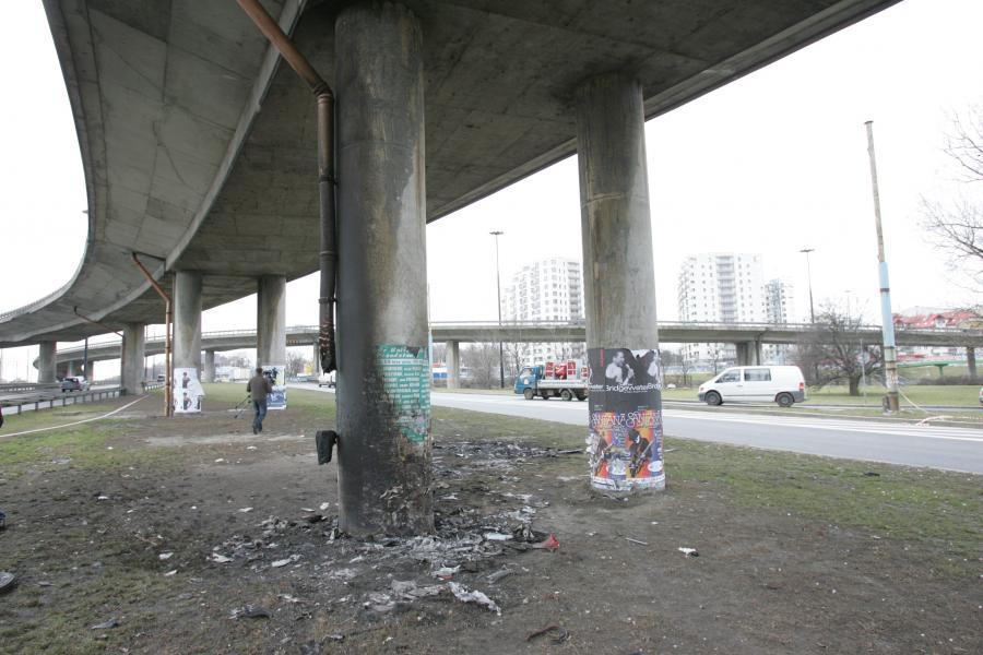 Warszawa. Miejsce w którym doszło do wypadku