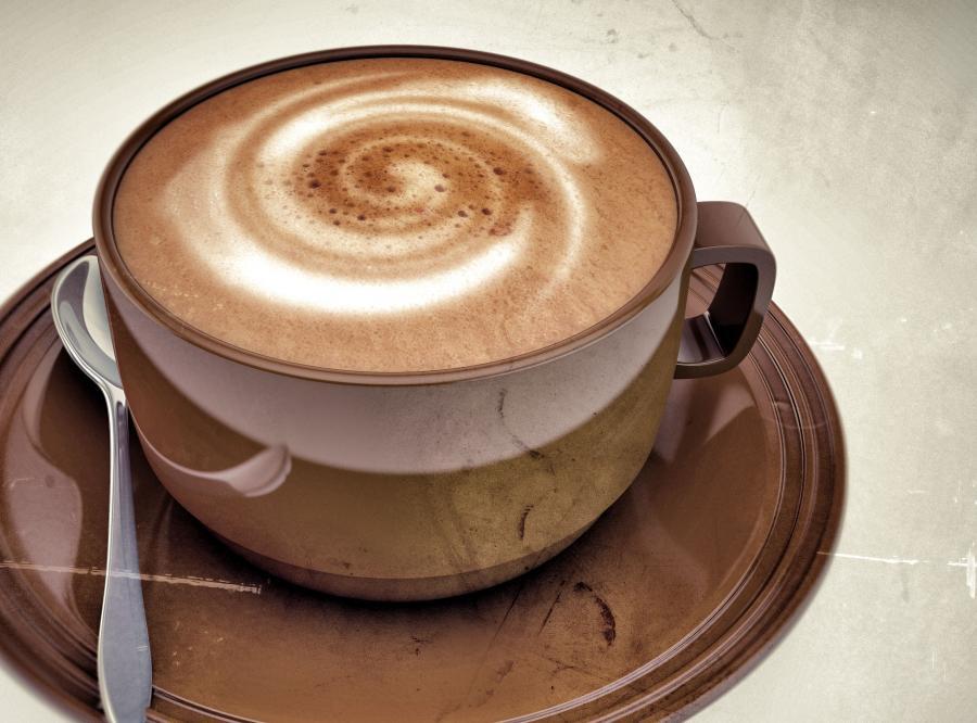 Mocna kawa z mlekiem