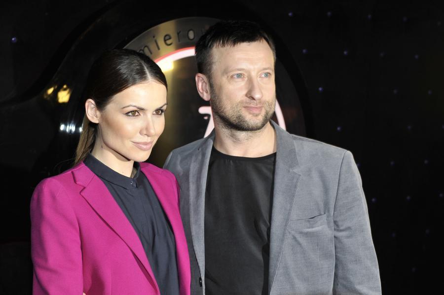 """Marta Żmuda Trzebiatowska i Adam Król na premierze """"Drogówki"""""""