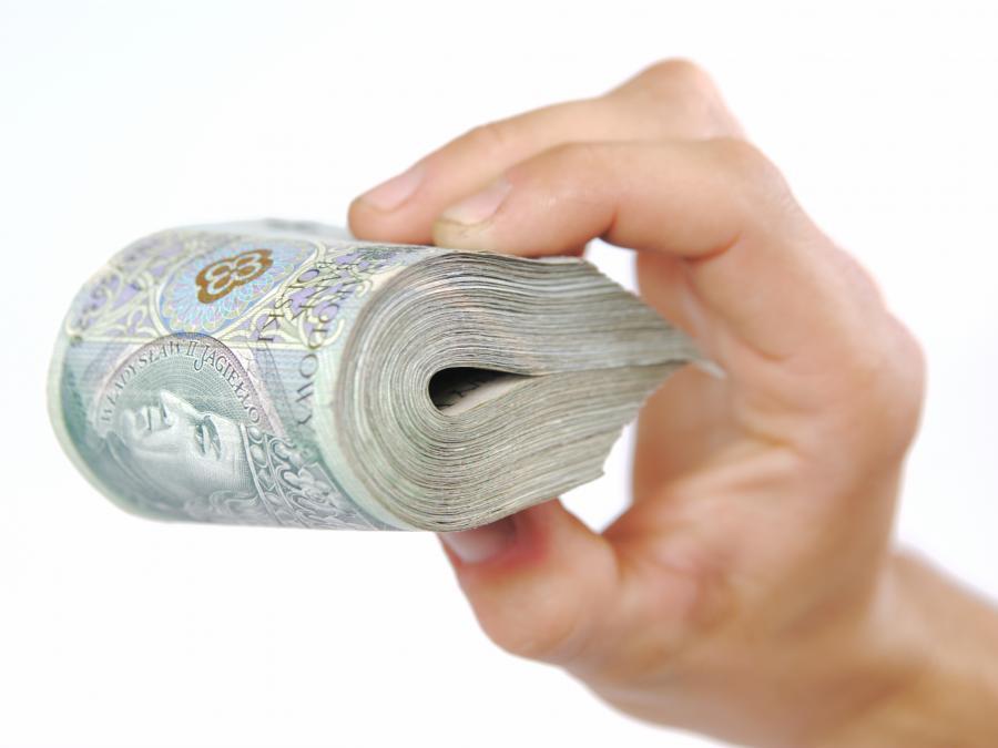 złoty złotówki pieniądze zwitek banknoty