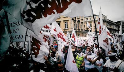 """Demonstracja związkowców z """"Solidarności"""""""