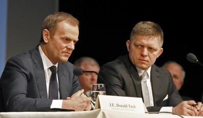 Donald Tusk, premier Polsk i Robert Fico, premier Słowacji