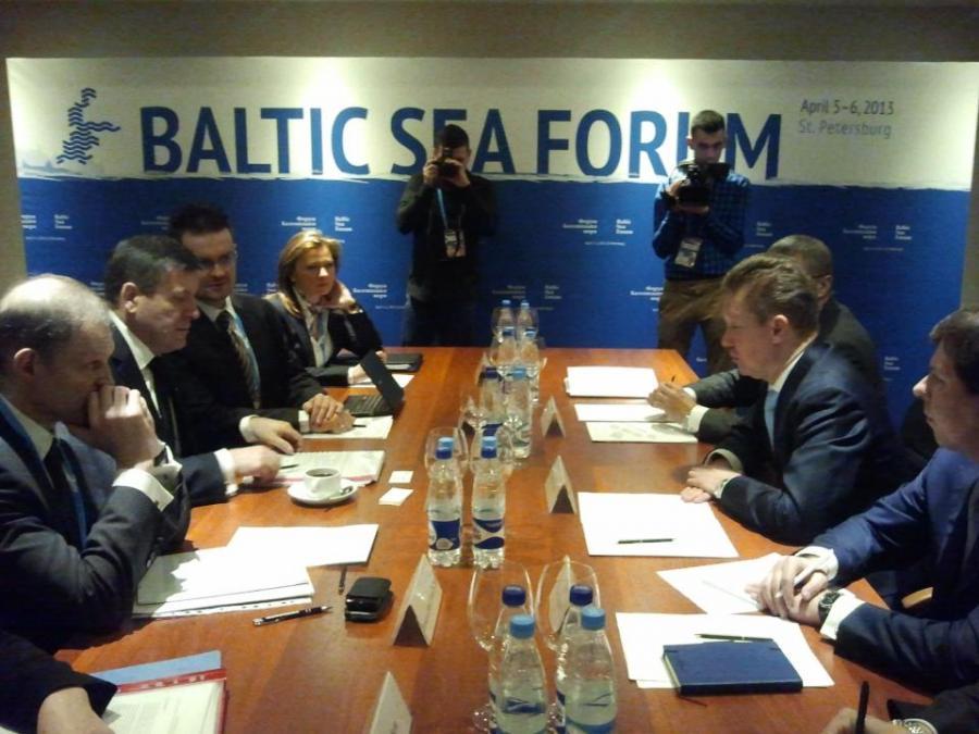 Spotkanie Janusza Piechocińskiego z szefem Gazpromu