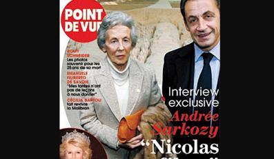 """Na łamach francuskiego tygodnika """"Point de Vue"""" ukazała się rozmowa z Andree Sarkozy, matką prezydenta Francji"""