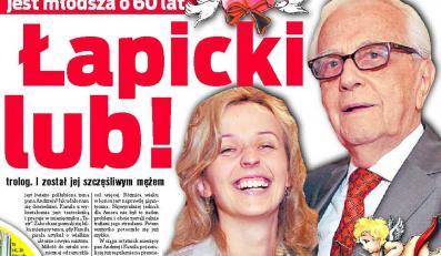 Łapicki usidlił kobietę o 60 lat młodszą