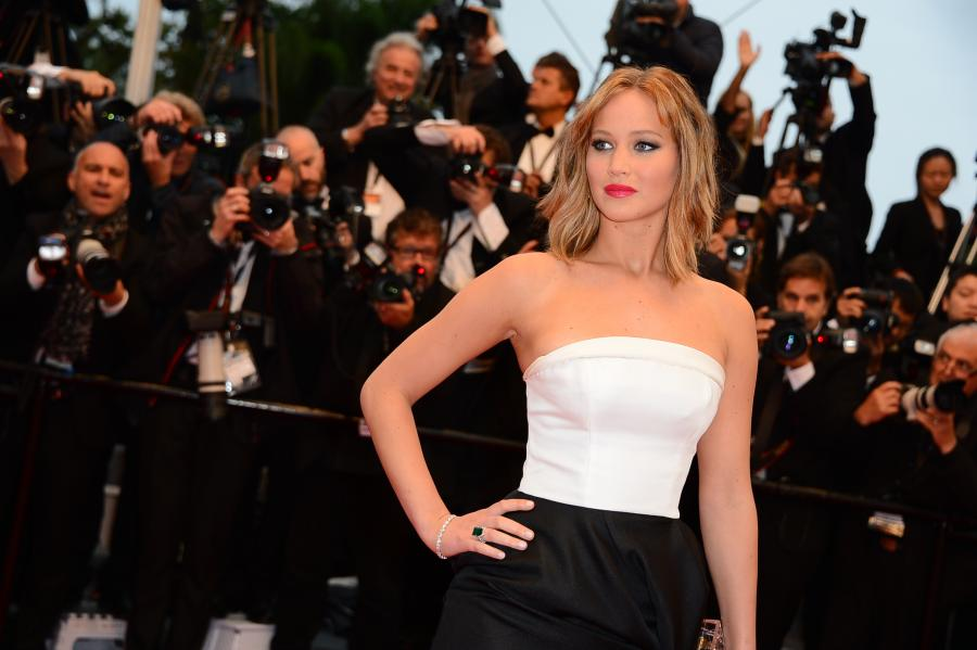 Jennifer Lawrence na festiwalu w Cannes